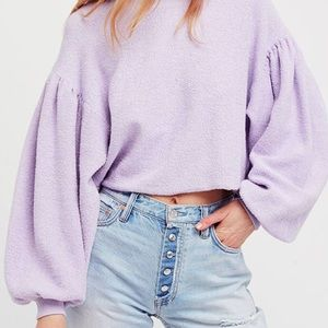 NWT Free People Sleeves Like These Pullover, XS